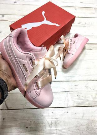 Шикарные женские кроссовки puma by rihanna розовые