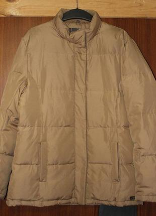 Пуховик куртка бежевая теплая  street one батал большого размера