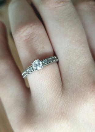 Серебряное кольцо женское с цирконом,кольцо женское серебро