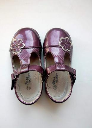 Вишневые лаковые туфли нарядные марсала bear bobby фиолетовые