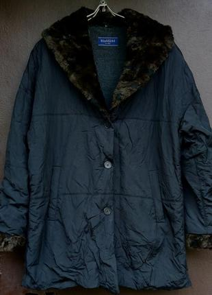 Длинная куртка пуховик biaggini батал большого размера