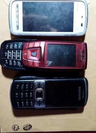 Рабочие Мобильные телефоны Nokia, Samsung аккумуляторы, наушни...