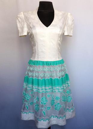 Суперцена. стильное платье, кружевной орнамент. турция. новое,...
