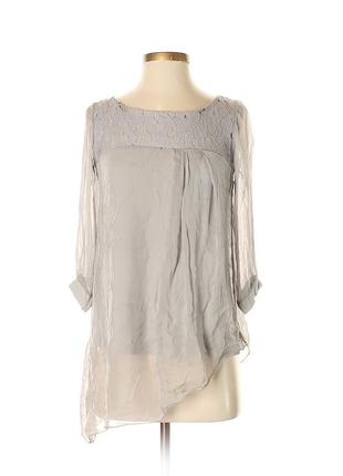Шелковая туника топ блуза