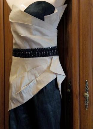 Стрейчевое короткое коктейльное вечернее мини платье miso