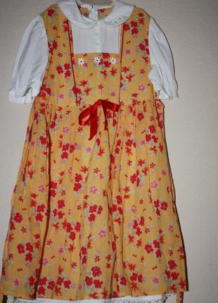 Нарядное красивое платье  для девочки  от 4лет до 6лет,состоян...
