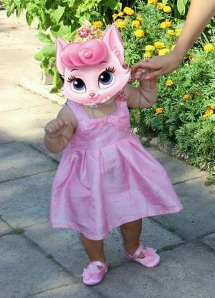 Платье нарядное розовое детское