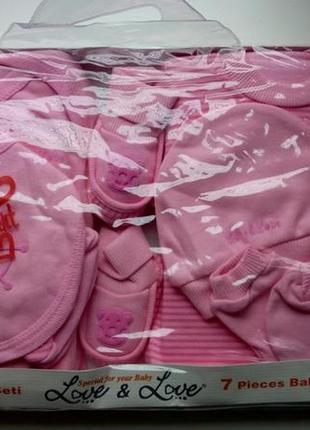 Подарочный набор для новорожденных розовый для девочки