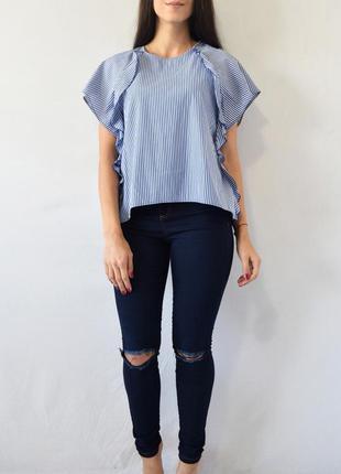 Блузка с рюшами zara