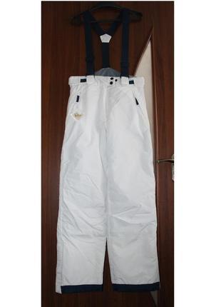 Лыжные штаны на лямках на подтяжках teflon new basic зимние брюки