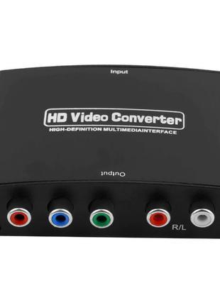 Конвертер, адаптер композит, переходник 1080p HDMI в RGB YPbPr