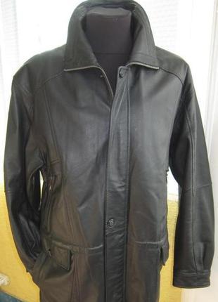 Xl оригинальная кожаная мужская куртка c.a.n.d.a. (1732)