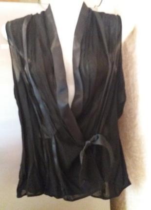 Стильная блузка на запах-----list--10-12р       №128       --и...