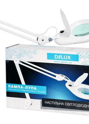 Настольная лампа светодиодная DELUX TF-150 3D 6500К 9Вт белая