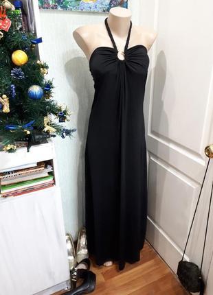 Длинное платье с открытой спиной linhua