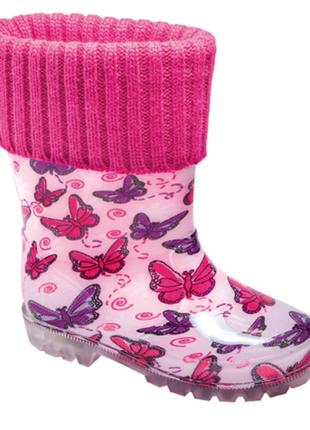 Резиновые сапоги фламинго, при ходьбе мигают
