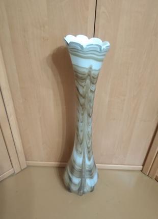 Раритетная напольная ваза из цветного стекла