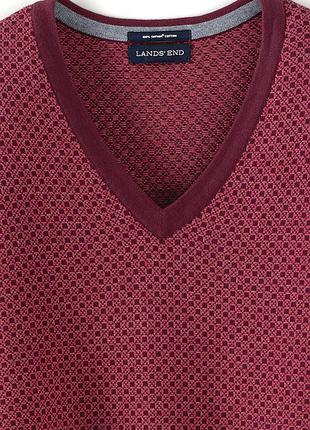 Пуловер  мужской  классический fit fit с v-образным вырезом, l...