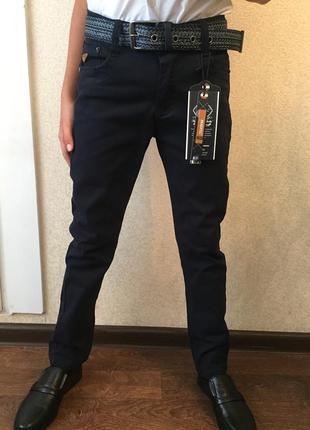 Синие школьные брюки 134-164