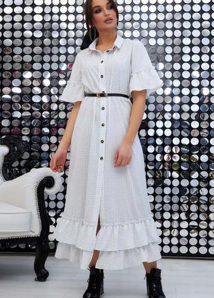 Шикарное летнее макси платье рубашка