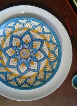 "Декоративная тарелка ""Цветок жизни"""