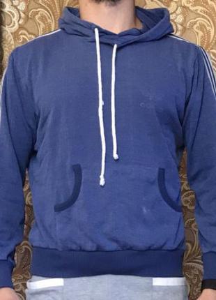 Спортивная кофта adidas original худи толстовка три полоски
