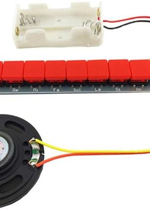 DIY Kit NE555 набор для пайки Фортепиано с батарейным блоком