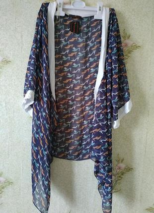 Летняя лёгкая накидка кимоно  кардиган young blood