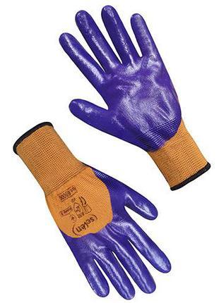 Перчатки с нитриловым покрытие
