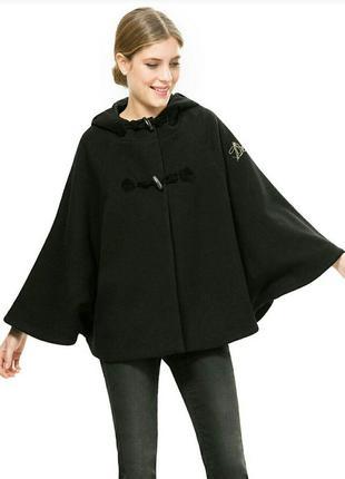 Женское пальто с капюшоном плащ мандала