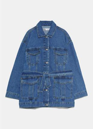 Удлиненная джинсовая куртка/пиджак/блейзер zara
