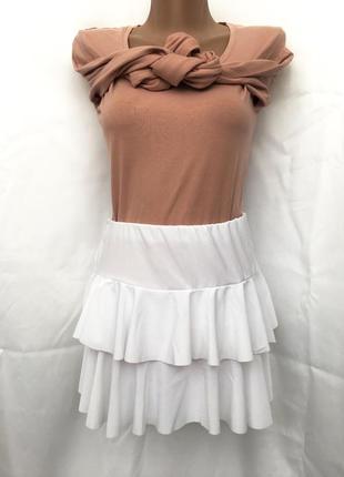Пышная спортивная юбка для бальных танцев, спорта, гимнастики,...