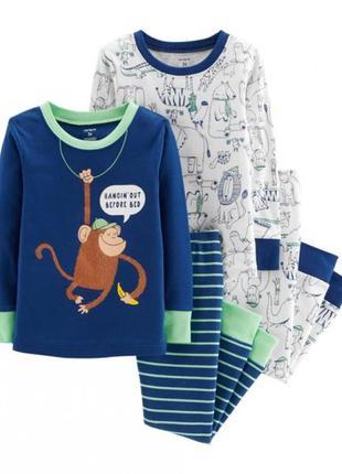 Carters комплект из двух пижам для мальчика 3т 5т