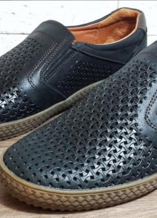 Кожаные мужские туфли levis mustang перфорация 40-45 р-ры