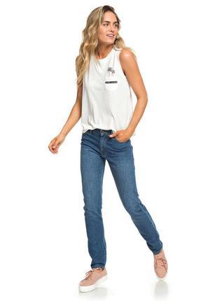 Супер джинсы прямого кроя, завышенная посадка талия