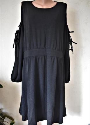 Платье большого размера с оригинальными рукавами