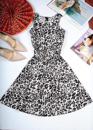 Полная распродажа всех вещей!!летнее платье с леопардовым прин...