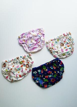 Комплект трусиков летние для девочки, под памперс