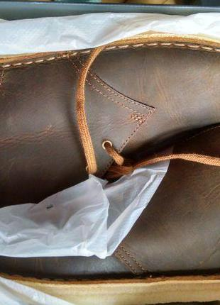 Ботинки clarks chukka, кожа, оригинал