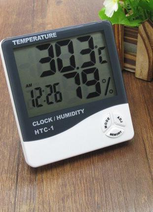 Цифровой, электронный термометр, часы, гигрометр, будильник, Н...