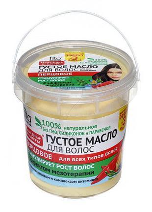 Масло перцовое густое для волос Народные рецепты фитокосметик ...