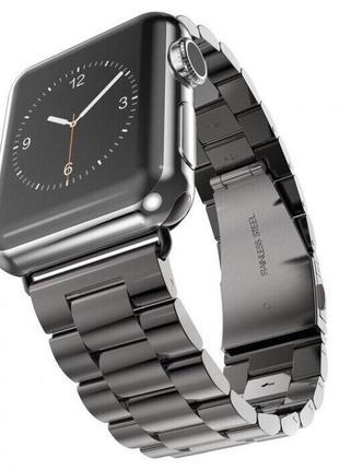 Металлический ремешок Steel Watch Band Black For Apple Watch 4...