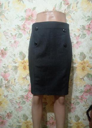 Классическая серая юбка