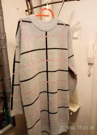 Новое платье-туника (италия)  в клетку