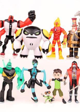 Игровой набор фигурок героев Ben 10 10-14 см + Свет№5 Бен 10 ...