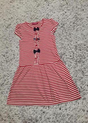 Платье полосатое на 6-7 лет