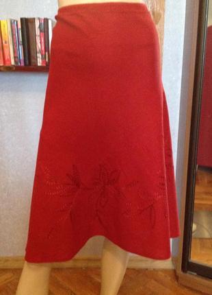 Прелестная натуральная юбка большого размера, бренда bm, р. 58...