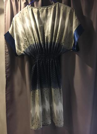 Шикарное легкое нарядное платье с атласным поясом