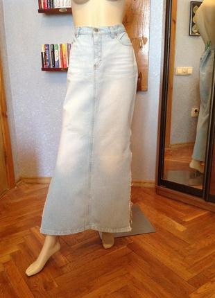Любимая, настоящая джинсовая юбка бренда only, р. 48-50,