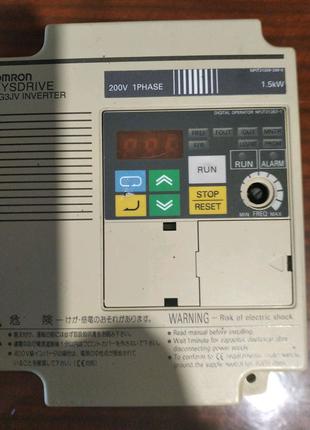 Частотный преобразователь Omron 1,5 кВт, 220 В